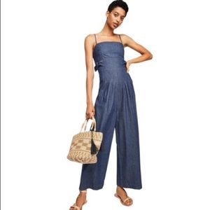 Brittany Denim Jumpsuit by Free People NWOT